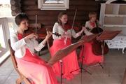 Струнное трио: 2 скрипки с виолончелью.